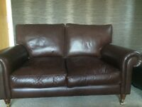 Laura Ashley Leather Sofa