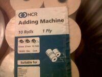 Till Rolls / Adding Machine Rolls pk10