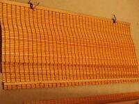 Bamboo roller blind