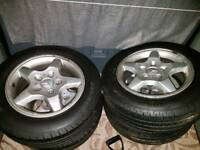 MB Vito 5x112 205 65 16C alloys with new tyres load rated