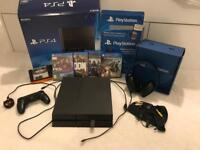 Ps4 Bundle 500gb plus official headset and games