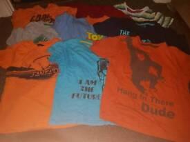 9 Boys tshirts (age 6-7)