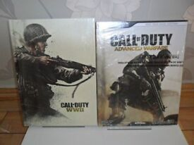 New COD Duty WWII Collectors Edition Strategy Guide Hard back Book. New COD Advanced Warfare Guide