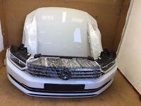 Single unit: Front end for VW Passat B8 2015 3G 2.0 TDI bonnet mudguard LHD headlight bumper etc