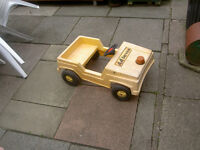 Yellow plastic AA pedal car , good working order