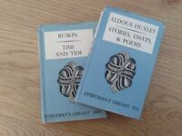 Everyman's Library. Ruskin and Aldous Huxley. Published by Dent & Sons