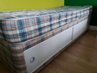 IKEA SINGLE BED FRAME WITH MATRESS