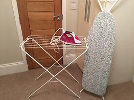 Ironing set (board, iron, drying rack)