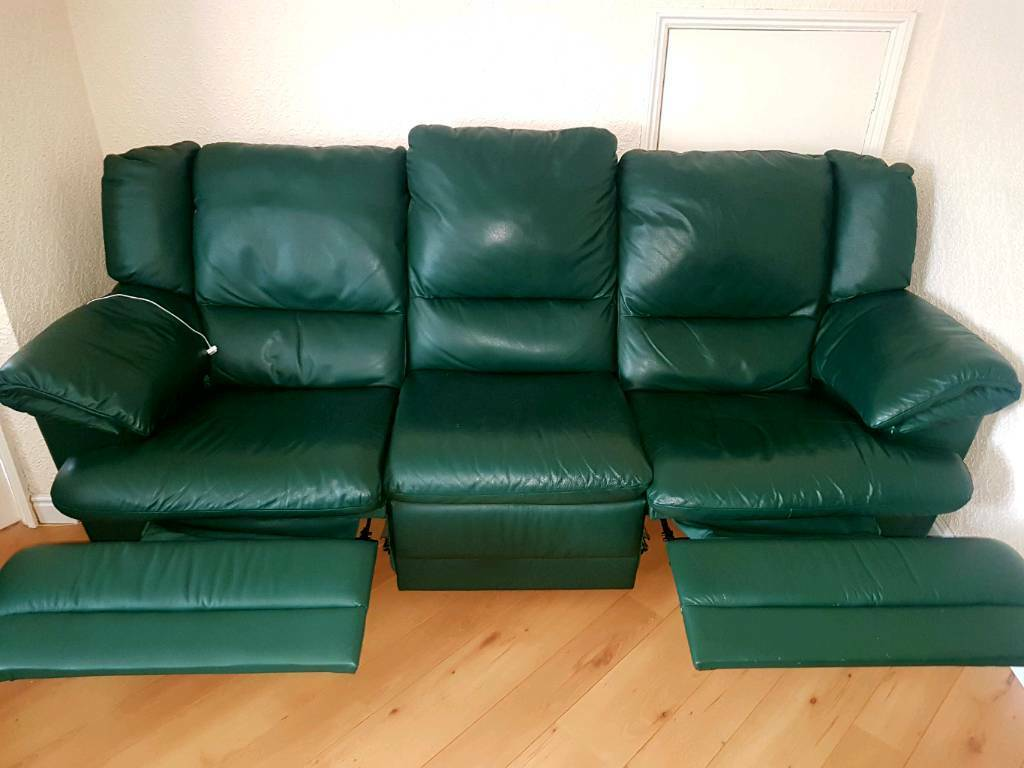 Natuzzi Reclining Leather Sofa Amp 2 Chairs Delivery