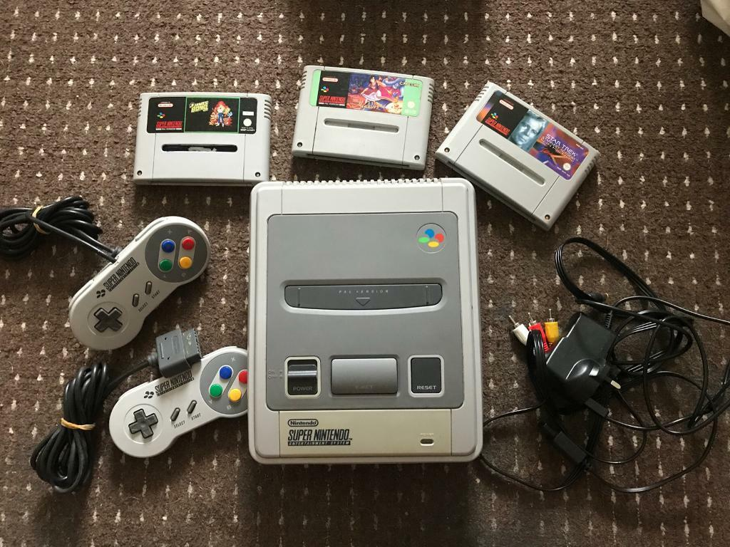 Original Super Nintendo SNES and games