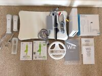 Nintendo WII Consul + Nintendo Fit + bundle of games and accessories