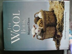 Vintage book on Spinning Dying and Knitting. The Wool Book by M Dixon VG condition.