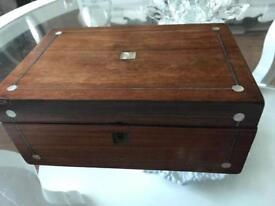 Antique Mother of Pearl Inlaid Box