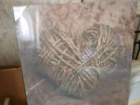 3 canvas pictures, mint condition