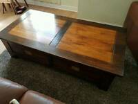 Dark wood coffee table / chest