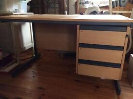 Desk with drawers