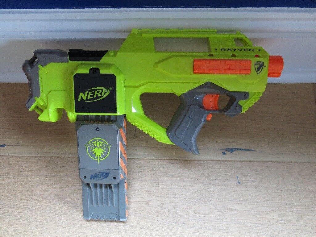 Nerf N-Strike Rayven CS-18 Electric Gun Blaster with 18 glow in the dark