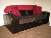 3 Piece Designer Italian (Gradi) LEATHER Sofas SUITE (3+2+Footstool)