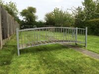 Koi pond bridge fully galvanised 9ft span 2ft wide quality built