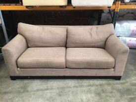 Large light brown two seat sofa