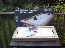 Wicked Gizmos wooden tabletop hockey game