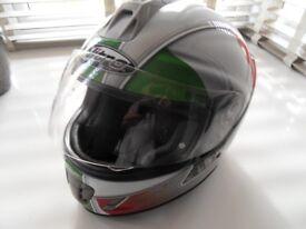 as new . viper gloss white full face helmet as new