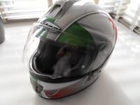 as new . viper gloss white full face helmet as new