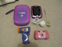 LEAP PAD 2 CONSOLE WITH VTECH CAMERA AND CAMCORDER