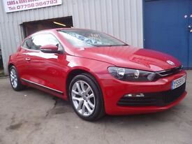 Volkswagen SCIROCCO 1.4 TSI,3 dr hatchback,stunning looking car,very sporty,runs and drives as new,