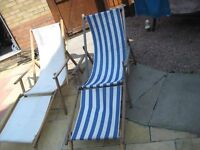 deckchairs of 2 with removable footrests