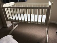 Rocking crib with new mattress great condition. Mangotsfield