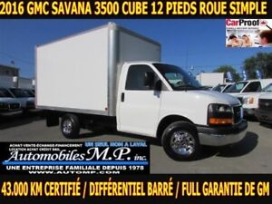 2016 GMC Savana 3500 43.000 KM CERTIFIÉ FULL GARANTIE IMPECCABLE