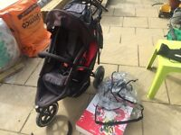 Phil & Teds double/ single buggy