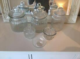 VINTAGE GLASS JARS COLLECTION- WEDDING / PARTY