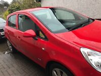 Car in mint condition red