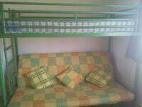 Jay-Be triple bunk with bottom sofa option