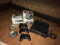 Xbox 360 console, controllers & games.