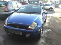 Ford KA 1.6 Petrol Convertable Blue Stunning Car Low Mileage Full Service History