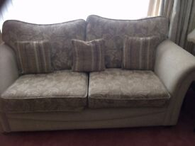 Gorgeous neutral colour 2 and 3 seaters sofa
