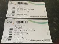 Paul Weller Tickets - Doncaster Dome - Wednesday 5 April - 2 standing tickets