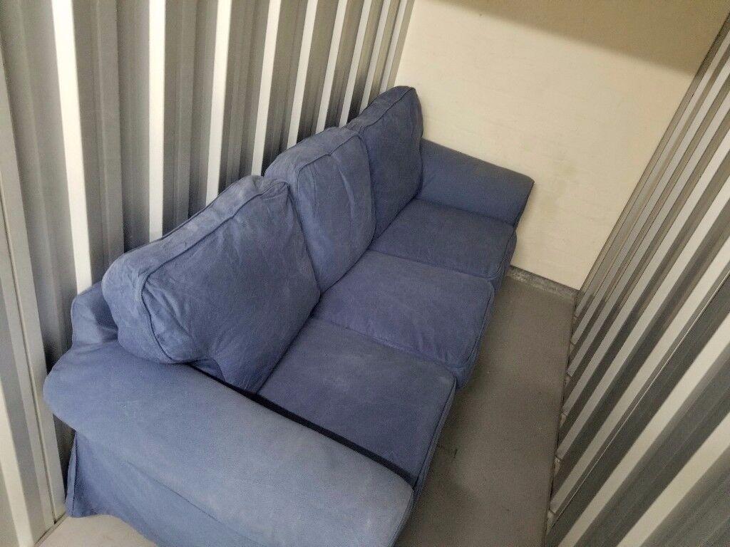 FREE!!!! IKEA THREE SEATER EKTORP SOFA / MID BLUE