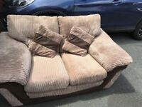 DFS 2x2 seater and footstool