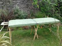 Original Darley massage/treatment table. Good condition, little use. Head rest. Pale green.