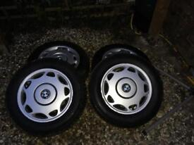"Bmw 15"" wheels with tyres"
