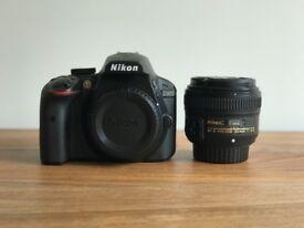Nikon D3400, AF-S NIKKOR 50mm 1.8G lens EXCELLENT CONDITION