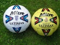 2 Mitre Ultimax Ball Size 5 Football Kevin Keegan autograph £250 ovno