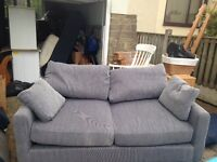 2 seater grey sofa
