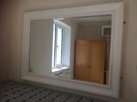 Wall Mirror in White