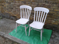 Two chairs Retro Vintage wooden 1960s ? #FREE LOCAL DELIVERY#