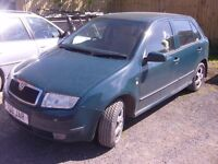 Skoda Fabia 1.4 petrol manual green
